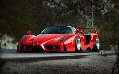 Herunterladen hintergrundbild ferrari enzo tuning, hypercars, rot, enzo, italienischer autos, ferrari