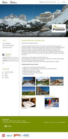 The website 'hotelpordoi.eu' courtesy of @Pinstamatic (http://pinstamatic.com)
