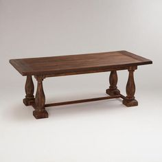 One of my favorite discoveries at WorldMarket.com: Greyson Fixed Dining Table