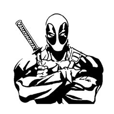 Deadpool Die Cut Vinyl Decal for Windows, Vehicle Windows, Vehicle Body Surfaces or just about any surface that is smooth and clean Marvel Noir, Stencil Art, Stencils, Doodle Drawing, Scroll Saw Patterns, Vinyl Projects, Pyrography, Vinyl Decals, Car Decals