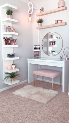 dream rooms for teens * dream rooms ; dream rooms for teens ; dream rooms for adults ; dream rooms for women ; dream rooms for couples ; dream rooms for adults bedrooms Home Decor Shelves, Wall Shelf Decor, Wall Mirror Ideas, Wall Shelves, Dresser Shelves, Wall Shelf Unit, Dresser Table, Shelf Desk, Wall Tv