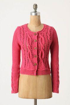 love love love. looks like knitting and crochet?