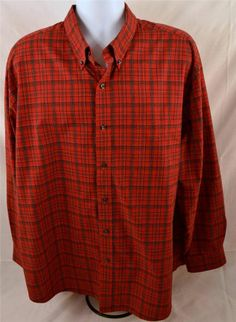 Saddlebred Men's Size XXL Long Sleeve Easy Care Dress Shirt #Saddlebred