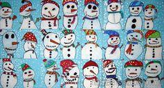 Thema: Winter. Kerst. Sneeuwpop. Knutselen. DIY. Koud. Sneeuw.