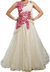 2326e2806d22 DESIGNER WHITE WEDDING GOWN Latest Party Wear Gown