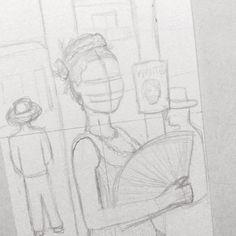 Personagem ilustrada nova saindo 🌹 Alguém reconhece? ⚪ ⚪ ⚪ #watercolour #watercolor #aquarelle #aquarela #ilustración #ilustração #illustration #draw #sketch #paint #desenho #dibujo #desenhando #painting #esboco #rascunho #girl #series #grlpwr #aquarelinhas #wip #filme #retrato #portrait #velhooeste #oldwest