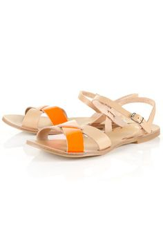 topshop hunt cross-over fluro sandals