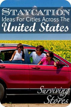 Find awesome staycation ideas in cities across the United States!!  No need to spend tons of money traveling somewhere else when there is so much to do right in your state!