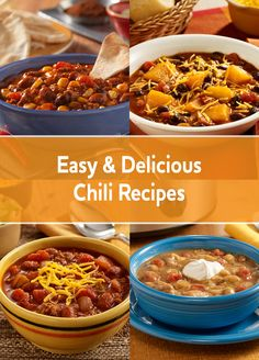 Don't let the cold weather get to you. Warm up with one of our hearty and easy chili recipes.