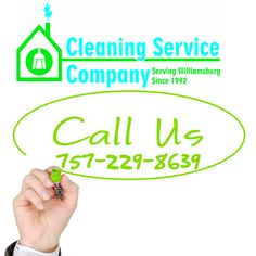 Call the Cleaning Service Company for carpet cleaning, weekly cleans or move outs. Serving the Greater Williamsburg area