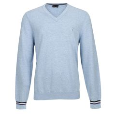 3d6e5476962dc7 Fashionable mottled men's golf sweater with V-neck fine and very soft  cotton for sports
