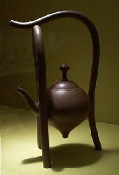 beautiful hanging heart Yixing teapot by Ah Leon 1991