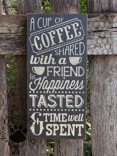 coffee with a friend | Coffee With A Friend Chalkboard Art Word by GoldieLooWoodworks, $36.00