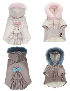 Dog Parka Coat - so freaking cute! but pricey! Girl Dog Clothes, Small Dog Clothes, Puppy Clothes, Pet Fashion, Animal Fashion, Yorkies, Parka Coat, Dog Winter Coat, Dog Accessories