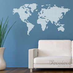The world map wall decals walldecalmall urban wall decals squared world map vinyl wall decal decals gumiabroncs Image collections
