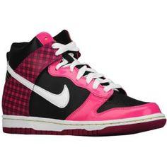 best website 34586 25be5 Nike Dunk High - Girls Grade School - Sport Inspired - Shoes -  BlackDesert PinkRave PinkWhite