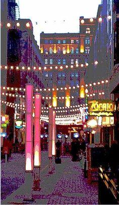 Walk in Neon Cleveland Ohio