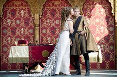 Natalie Dormer as Margaery Tyrell and Jack Gleeson as King Joffrey Baratheon