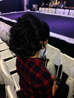 Bridal hair with band