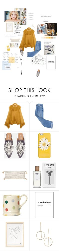 """""""Wanderlust."""" by sarahstardom ❤ liked on Polyvore featuring Chloé, 7 For All Mankind, By Charlotte, Kate Spade, Loewe, Emma Bridgewater, Loren Olivia and Folio"""