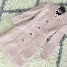 StylishPetite.com | J.Crew lady day coat in subtle pink, size 000 petite