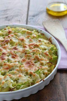 Patate al forno con verza e asiago