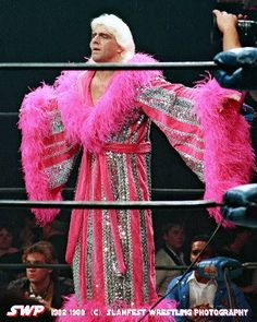 the nature boy - this is how I remember nature boy rick flair' Wrestling Stars, Wrestling Wwe, Famous Wrestlers, Wwe Wrestlers, Star Trek Posters, World Championship Wrestling, Ric Flair, Wrestling Superstars, Professional Wrestling