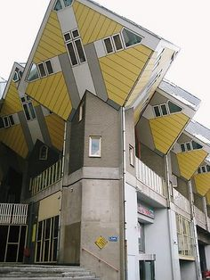 Weird cube buildings by sianiwha