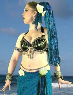 Tribal Hairfall BellyDaNcE FaiRy PiRaTe Ren FaiRe Mermaid Gypsy Pirate Halloween
