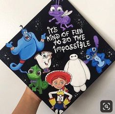 Struggling to figure out how to decorate a graduation cap? Get some inspiration from one of these clever DIY graduation cap ideas in These high school and college graduation cap decorations won't disappoint! Disney Graduation Cap, Funny Graduation Caps, Graduation Cap Toppers, Graduation Cap Designs, Graduation Cap Decoration, Graduation Diy, Decorated Graduation Caps, Funny Grad Cap Ideas, Quotes For Graduation Caps