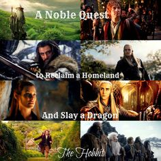 The Hobbit movie trilogy collage made by me.