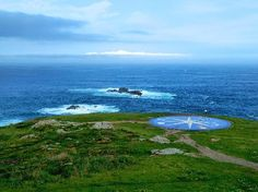 View from Tower of Hercules in A Coruna, Spain.