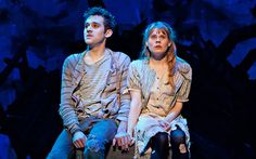 "Adam Chanler-Berat and Celia Keenan-Bolger in the Broadway production of ""Peter and the Starcatcher."""
