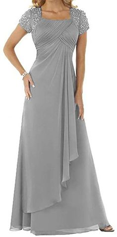 Are you searching for a cute mother of the bride dress? You should take a look at this Chiffon Chiffon Sequare Neck Long Prom Dress Mother The Bride Dress. Mob Dresses, Short Sleeve Dresses, Bridesmaid Dresses, Prom Gowns, Prom Dress, Party Dresses, Formal Gowns, Chiffon Dress, Beaded Chiffon
