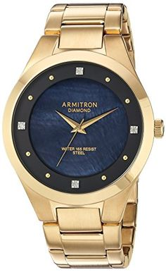 Armitron Mens Quartz Stainless Steel Dress Watch ColorGoldToned Model 205194JMGP *** Read more reviews of the product by visiting the link on the image. (Note:Amazon affiliate link)