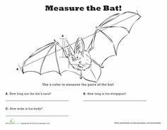 Worksheets: Measure Length: Bat!