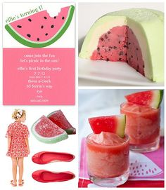 """""""A Slice of Summer"""" party with a watermelon theme"""