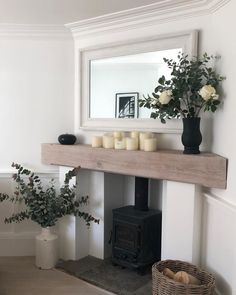 50 great fireplace design ideas for small houses - SWEETYHOMEE - 50 great fireplace . 50 great fireplace design ideas for small houses - SWEETYHOMEE - 50 great fireplace design ideas for small houses - Living Room With Fireplace, New Living Room, Small Living Rooms, Home And Living, Living Room Designs, Living Room Decor, Small Fireplace, Tiny Living, Living Room With Stove