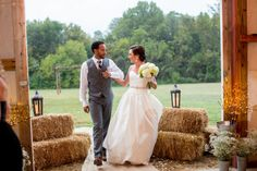 Harry & Kelly's rustic meets modern Virginia barn wedding at Adams International School. | Images: Vness Photography
