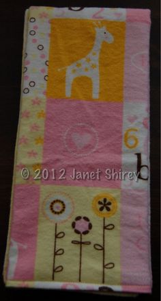 Set of 3 XL Soft Cotton Flannel Reversible Burp Cloths with Pink ABC 123 Animal Print & coordinating yellow and white stripes for $14.25 - SAVE 10% for LIMITED time with coupon code FIRSTPURCHASE2012 - and THANKS :)
