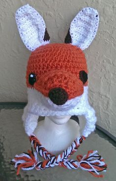 Crocheted Fox HatNewborn to Adult by robynperlmandesigns on Etsy, $40.00