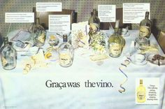 Graca Wine ad from1983