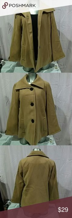 JM collection new suede wing collar button front New with tags: suede wing collar button front jacket with long sleeve. Material 70% polyester 28% rayon and 2% spandex, the lining is 100% polyester. JM Collection Jackets & Coats