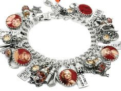Marilyn Monroe Jewelry, Marilyn Monroe Movie Star, Marilyn Charm Bracelet - Blackberry Designs Jewelry