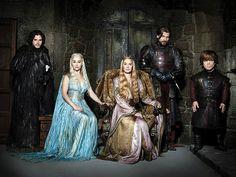 EW Weekly magazine portraits Game of Thrones season 2 Lord Jon Snow, Khaleesi Daenerys Targaryen ,Queen Cersei, Ser Jaime & Tyrion Lannister