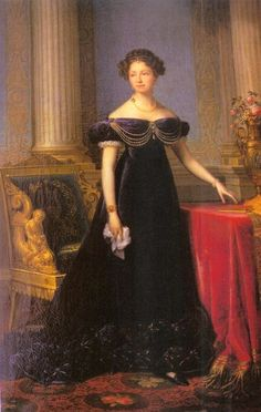 Queen Anna Pavlovna of the Netherlands by Francois-Joseph Kinsoen (location unknown to gogm) | Grand Ladies | gogm