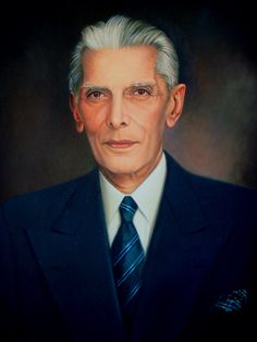 "Painting - ""Founder of Pakistan- Mohammed Ali Jinnah""."