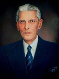 "Painting - ""Founder of Pakistan- Mohammed Ali Jinnah""."