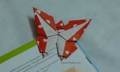 Origami Bookmarks Corner Butterfly | Origami Bookmark