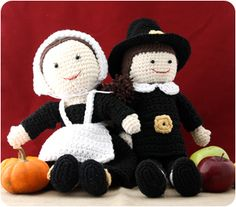 Pilgrim Lily & Billy Dolls! - free crochet pattern
